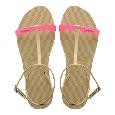Havaianas Shocking Pink You Belize Sandals