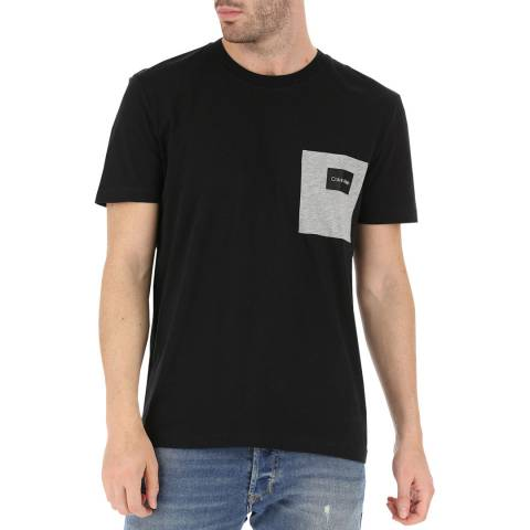 Calvin Klein Black Contrast Pocket T-Shirt