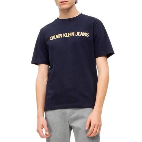 Calvin Klein Navy Embroidery Logo T-Shirt