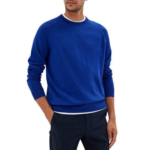 Calvin Klein Blue Extrafine Wool Crew Jumper