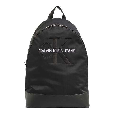 Calvin Klein Black Monogram Nylon Backpack