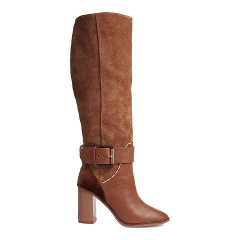 Ted Baker Tan Thatia Knee High Suede Boots