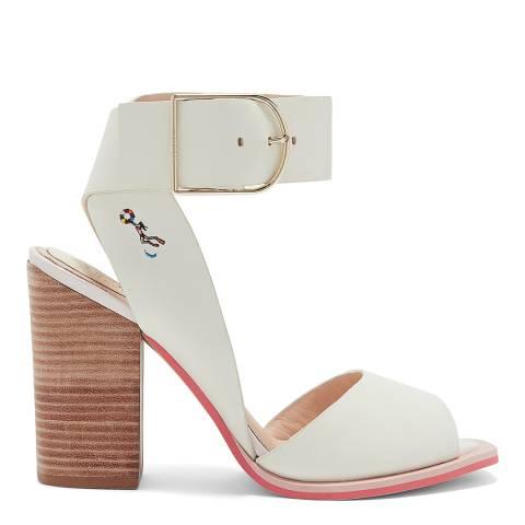 Ted Baker Ivory Cream Thasie Block Heel Sandals