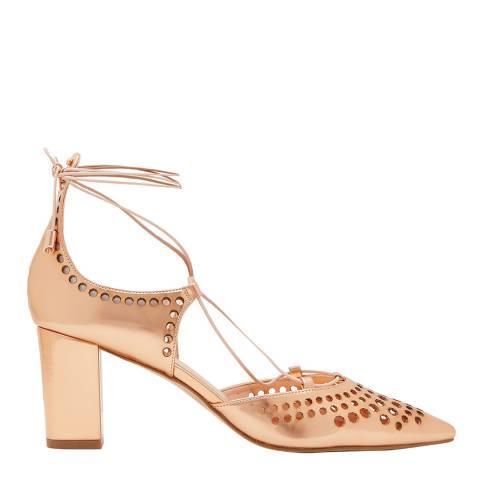 Ted Baker Rose Gold Xarel Laser Cut Sandal