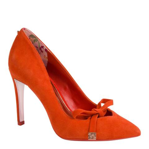 Ted Baker Burnt Orange Gewell Bow Detail Court Shoes