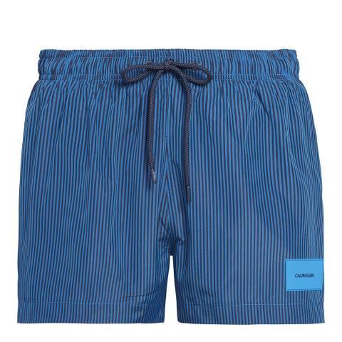 Calvin Klein Blue Shadow/Imperial Blue Stripe Core Stripe-S Short Drawstring