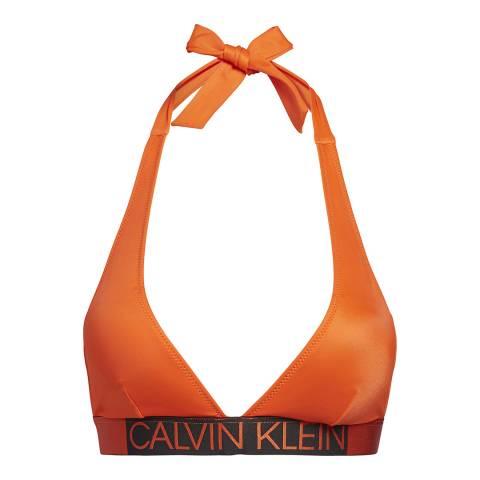 Calvin Klein Mandarin Red Core Icon-S Plunge Bra