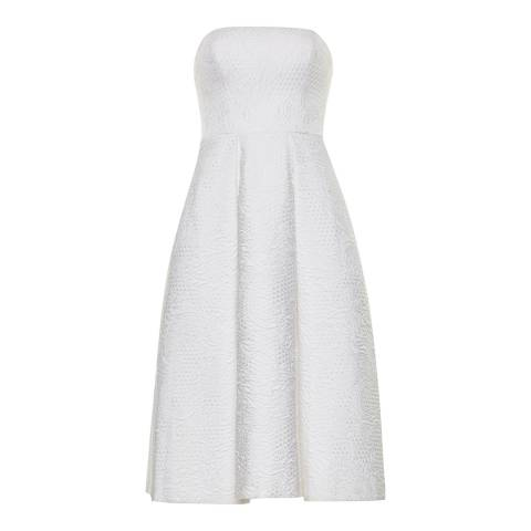 Ted Baker White Caralet Jacquard Dress