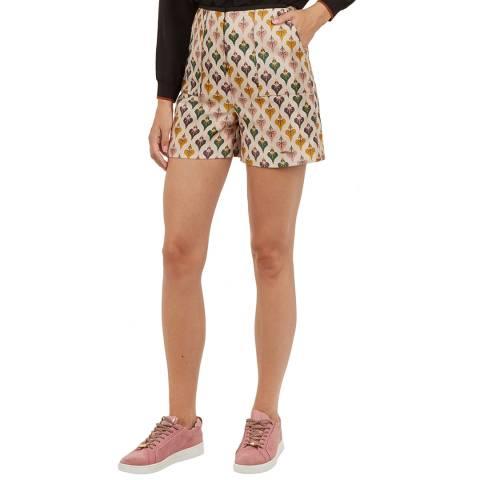 Ted Baker Ivory Tedda Jacquard Shorts