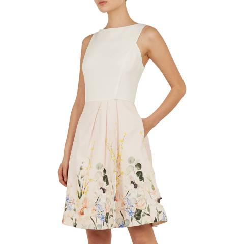 Ted Baker Nude Pink Kalla Full Skirt Dress