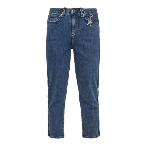 Ted Baker Blue Eruca Straight Stretch Jeans