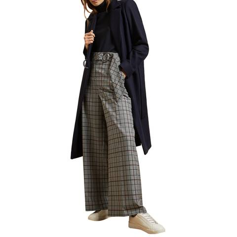 Ted Baker Dark Brown Dezpina Wool/Cashmere Blend Coat