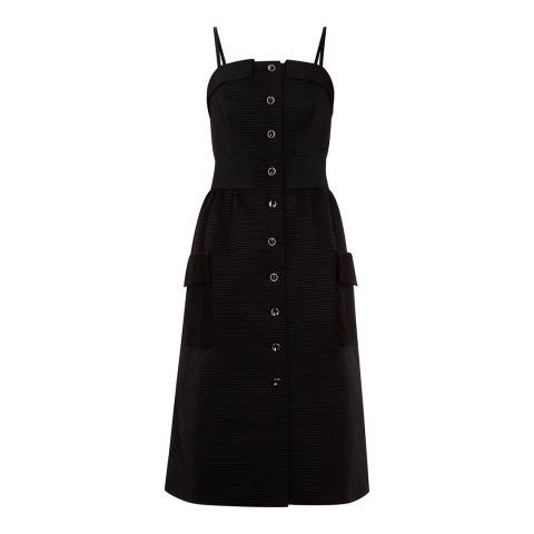 Ted Baker Black Octovia Cotton Button Dress
