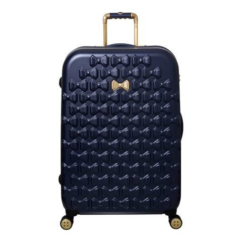 Ted Baker Navy Large Beau 4 Wheel Suitcase