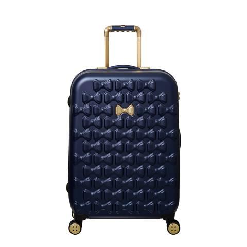 Ted Baker Navy Medium Beau 4 Wheel Suitcase