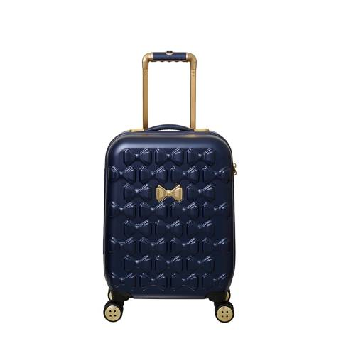 Ted Baker Navy Small Beau 4 Wheel Suitcase