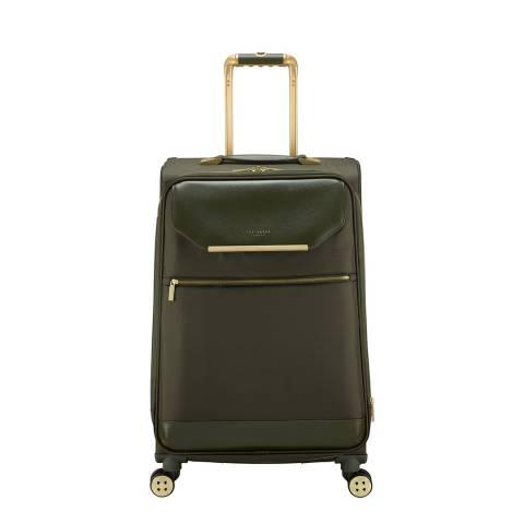 Ted Baker Olive Medium Albany 4 Wheel Suitcase