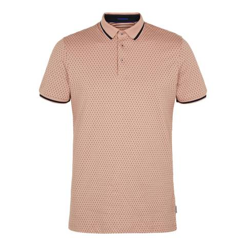 Ted Baker Navy Abot All Over Geo Print Polo Top