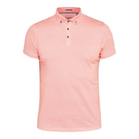 Ted Baker Coral Fliyte Geo Printed Polo Top