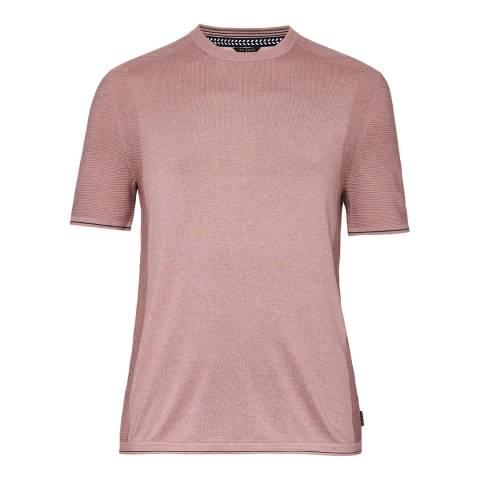 Ted Baker Pink Velk Crew Neck T-Shirt