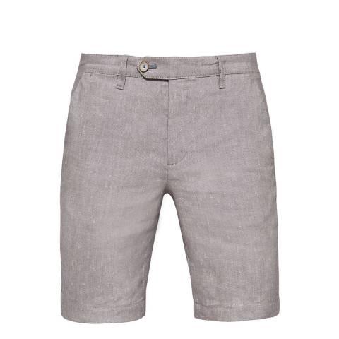 Ted Baker Grey Newshow Linen Oxford Weave Short