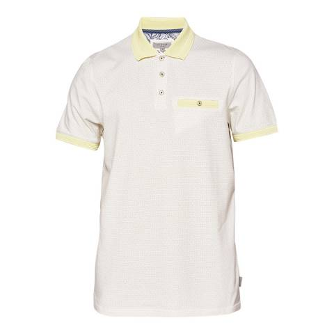 Ted Baker Lemon Sloughi All Over Geo Print Polo Top