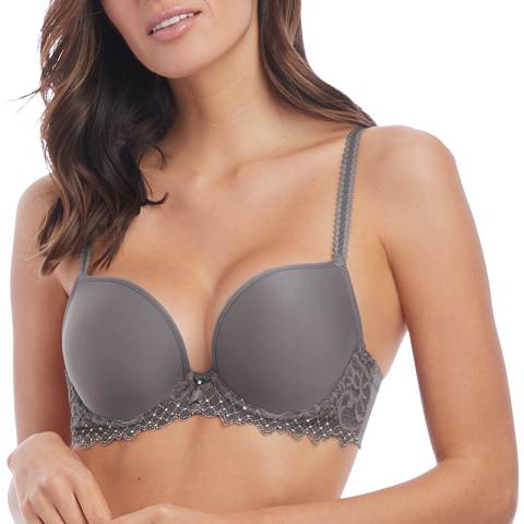 Wacoal Soft Grey Lace Essentiel Contour Bra