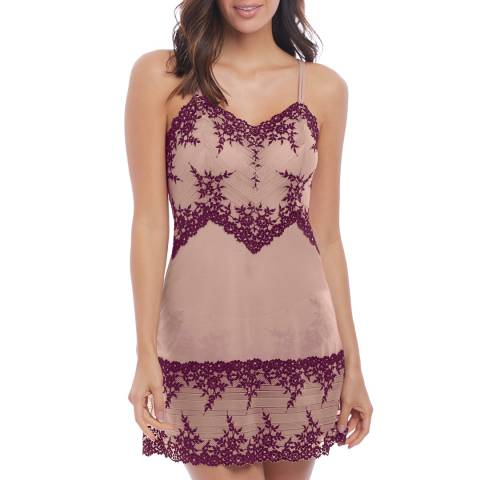 Wacoal Morning Glory Red Embrace Lace Chemise