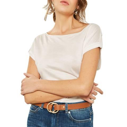 Mint Velvet Ivory Utility T-Shirt
