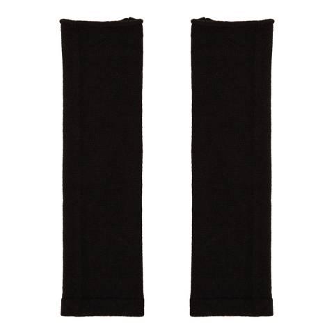 N°· Eleven Black Cashmere Fingerless Gloves