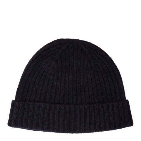 N°· Eleven Navy Cashmere Ribbed Beanie