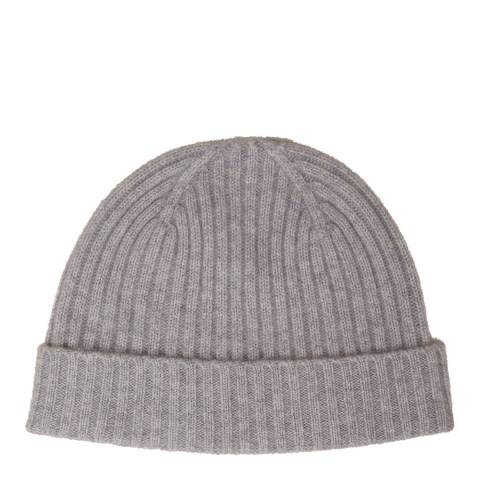 N°· Eleven Grey Cashmere Ribbed Beanie