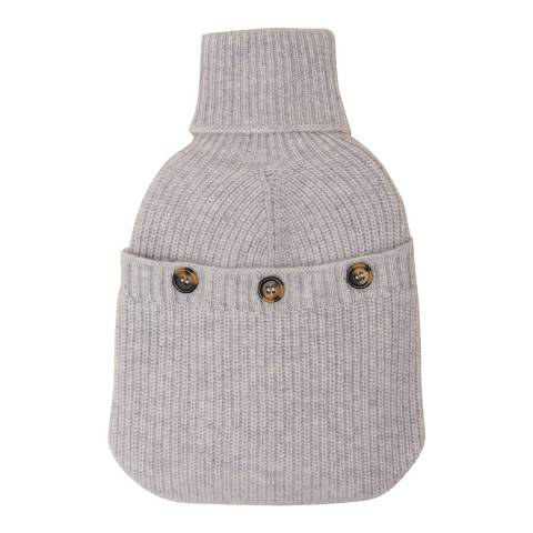 N°· Eleven Grey Cashmere Ribbed Hot Water Bottle Cover