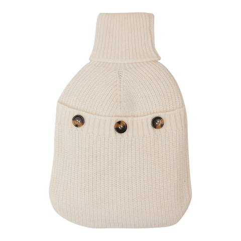 N°· Eleven Cream Cashmere Ribbed Hot Water Bottle Cover