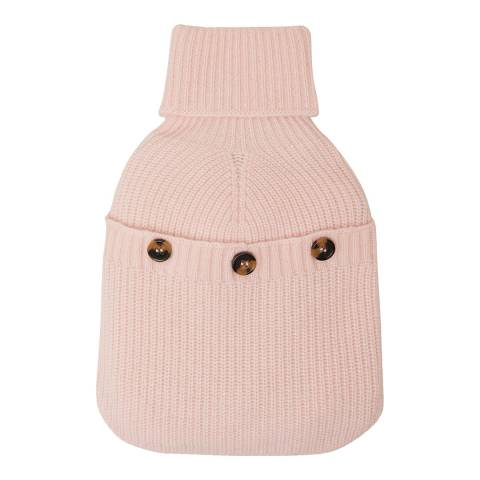N°· Eleven Pink Cashmere Ribbed Hot Water Bottle Cover