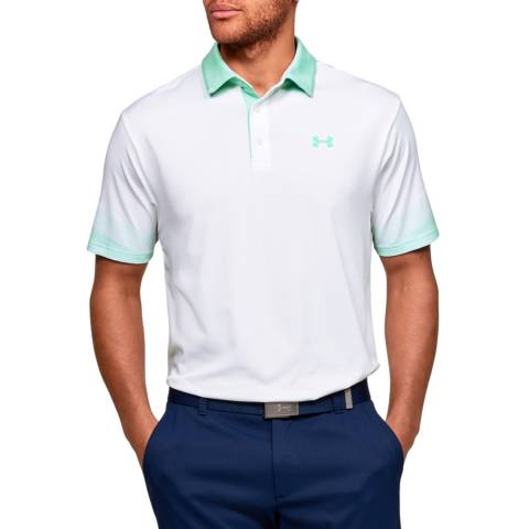 Under Armour White Playoff Polo