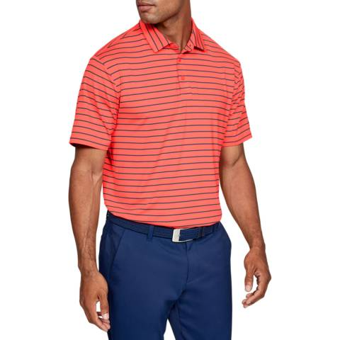Under Armour Red Playoff Polo