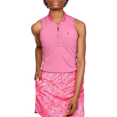 Under Armour Pink Zinger Zip Polo