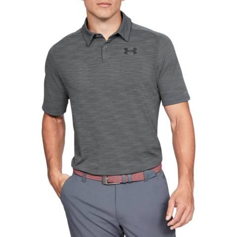Under Armour Grey Tour Tips Seamless Polo