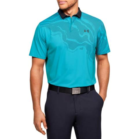 Under Armour Blue Iso Chill Shadow Polo