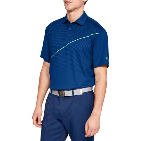 Under Armour Blue Playoff Polo