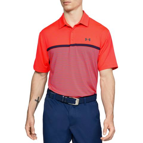 Under Armour Orange Playoff Polo