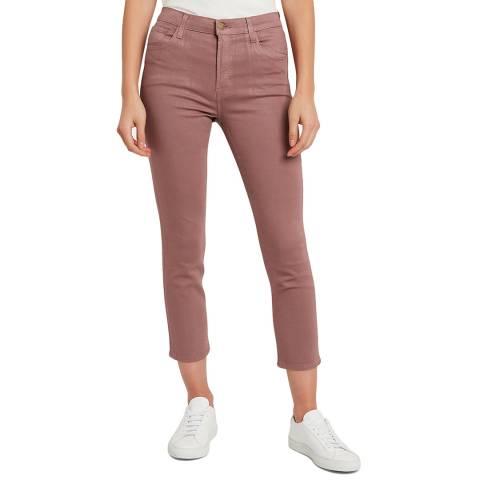 J Brand Mauve Coated Ruby Crop Stretch Jeans