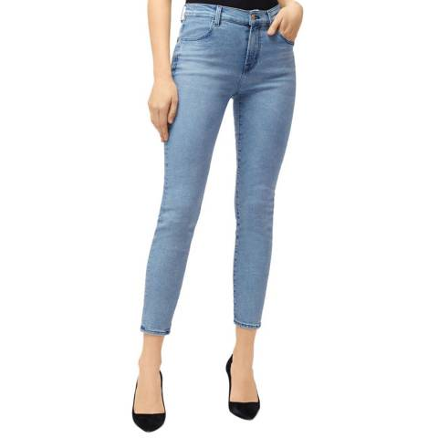 J Brand Light Blue Alana Distressed Crop Skinny Jeans