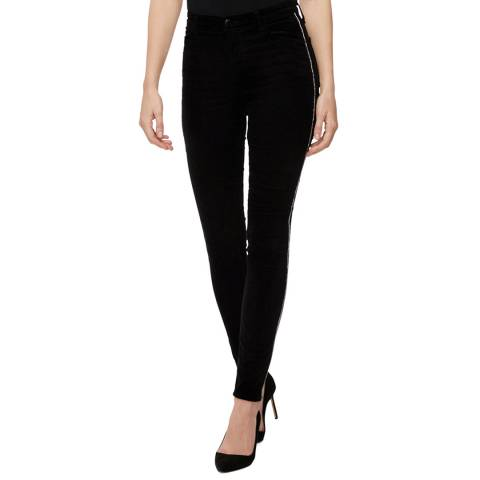 J Brand True Black Maria High Rise Skinny Stretch Jeans