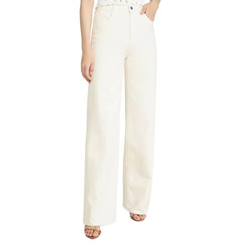 J Brand White Elsa Monday Wide Stretch Jeans