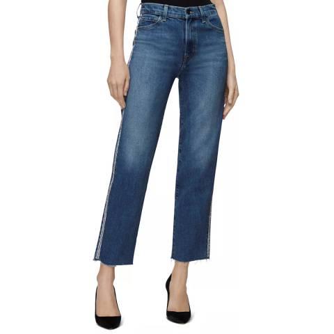 J Brand Blue Jules Straight Stripe Stretch Jeans