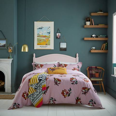 Joules Heritage Peony King Duvet Cover, Lilac