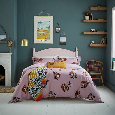 Joules Heritage Peony Super King Duvet Cover, Lilac