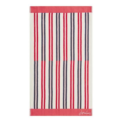 Joules Dawn Shadow Stripe Bath Towel, Raspberry